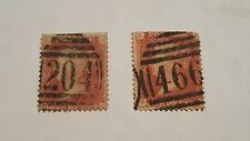 (2) Great Queen Victoria Britain Penny Red One Penny Postage Stamp (EN) (KR)