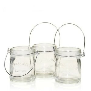 New in box - Yankee Candle Mini Mason Canning Jars Tea Light Holder Set Of 3