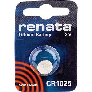 10 x Renata CR1025 Batteries, 3V Lithium, 1025
