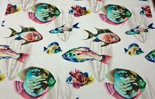 "P KAUFMANN BARRIER REEF ISLAND D4122 TROPICAL FISH FISHES FABRIC BY YARD 54""W"