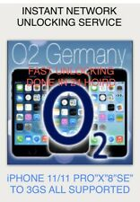O2 ✅ Germany 🇩🇪 All iPHONES 📲 INSTANT Network Unlocking  FAST SERVICE✅