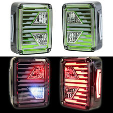 Xtreme Brake+Reverse+Turn Signal+LED GREEN Taillight For 07-18 Jeep JK Wrangler
