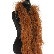 Soft Brown 3ply Ostrich Feather Boa Scarf Prom Halloween Costumes Dance