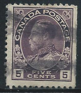 Canada #112(2) 1922 5 cent violet KING GEORGE V Used