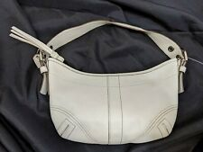 COACH WHITE PURSE HOBO HANDBAG Shoulder Bag 8A01 LEATHER  AUTHENTIC VINTAGE