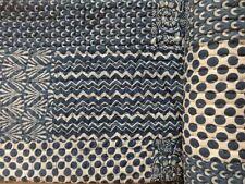 Handmade Vintage Queen Size Quilt Cotton Patchwork Hand Block Print Kantha Quilt