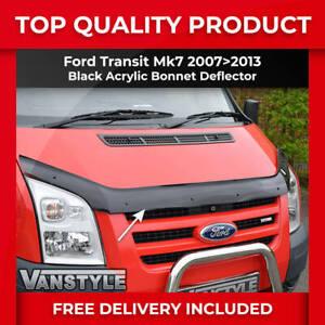 FOR FORD TRANSIT MK7 07-13 BONNET WIND BUG STONE DEFLECTOR PROTECTOR NOT BRA VAN