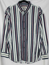 Mens Natural Issue Cotton Button Down Long Sleeve Striped Shirt – Size XL – EUC!