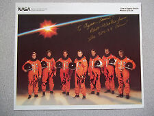 STS-39 8X10 Autographed Crew Photo