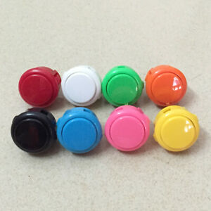 8pcs Original Sanwa OBSF-30 Push Button For Arcade Game DIY 13 Colors Available