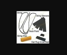 "48"" Amo - 14 Strand Traditional Bow String + Silencers Wax Rest Nock Point Save!"
