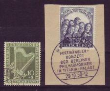Gestempelte Briefmarken aus Berlin (1949-1990) mit Musik-Motiv als Satz