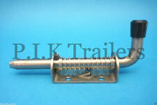 Stainless Steel Spring Shoot Bolts Gate Door Catch Stable Trailer Horse Box