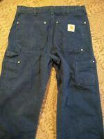 Vintage Mens Carhartt Carpenter Work Pants Indigo Blue 31 X 28 Made USA