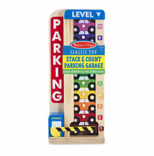 Melissa and Doug Wooden Stack and Count Parking Garage Kids Stacking Sorting Toy