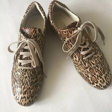 Loriblu Sport Leopard Print Shoes Sneakers EUR 38 Lace up Animal Print Italian