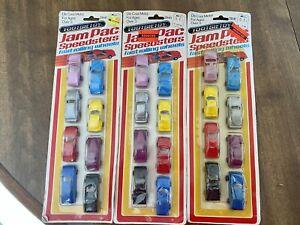 LOT 3 TootsieToy 2841 Jam Pak Speedsters 1989 New 8 Cars NOS Porsche Datsun Rod