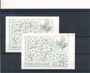 [22139] Sweden Flora Fauna 2x good complete booklet very fine MNH