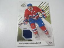 2016-17 Upper Deck SP Game Used Relic #76 Brendan Gallagher