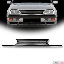 Matte Blk Horizontal Billet Front Bumper Grill Grille Abs 93-98 Golf/Cabrio MK3