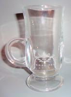 Vintage Clear Glass Demitasse Mug Tea Cup w/ Handle Ahmad Tea of London Logo
