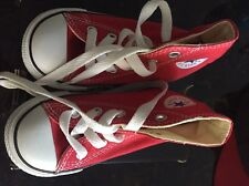 CONVERSE ALL STAR Toddler RED CANVAS HIGH TOP SNEAKERS SIZE 6 Little Kids NEW