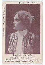 1903 ITALY VANI actress first half of'900 photo card d'epoca female art nouveau