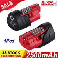 For Milwaukee 48-11-2401 M12 Li-Ion Lithium 12V 12 Volt 3500mAh Battery Pack US