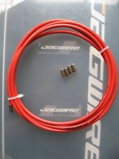 JAGWIRE - RED CGX-SL OUTER BRAKE CABLE - 2 METRES  plus 6 METAL END FERRULES