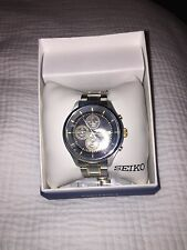 Men's Chronograph Special Value Two-Tone Stainless Steel Bracelet Watch 43mm SKS