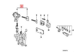 Genuine BMW E23 E24 Coupe Sedan Left Cylinder Lock Door OEM 51211915333