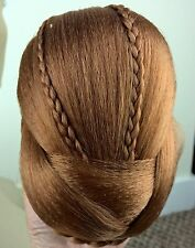 Copper ginger red fake pony tail clip sew on braid plait bun hair extension new