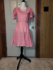 Pink LAMONT Line Polka Dot Square Dance Ruffle w/Lace Western Swing Sz 6