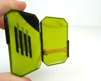 VERY RARE ORIGINAL FRENCH ART DECO AVANTGARDE GREEN BAKELITE CIGARETTE CASE 1930