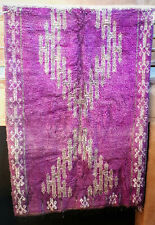 Vintage purple wool moroccan Boujaad tribal rug  288 x 184cm