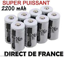 2 Piles Accus Rechargeables CR123A 16340 3.7V 2200Mah BTBAI Li-ion Batteries