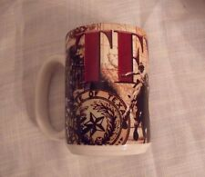 Beautiful Texas Cup/Mug Texas In Large Letters Map ,Bronco Rider,Oil Rig