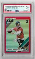 2019 Panini Donruss optic football red refractor prizm Gardner Minshew PSA 9