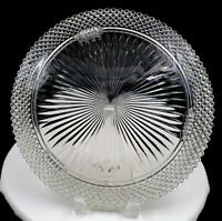 """ANCHOR HOCKING CLEAR MISS AMERICA THREE FOOTED 12"""" CAKE PLATE 1935 - 1938"""