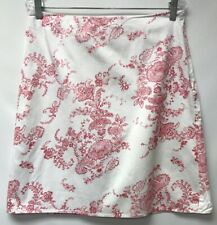 Clio Size 10 Skirt White Red