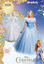 Simplicity Nähen Muster Misses Disney Cinderella & Fee PATIN 6 - 22 1026