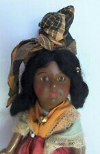 "S.F.B.J. 8"" Black / AA Later Paper Mache Doll, Original Outfit SFBJ"