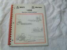 1988 Agco White New Idea Round Baler Hay Rakes Service Information Manual