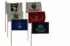 "12x18 12""x18"" Wholesale Lot of 6 U.S. Military w/ 101st Airborne Stick Flag"