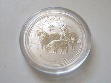 2015 Australian Perth Mint Lunar Goat 1/2 oz Bullion .999 Silver Coin