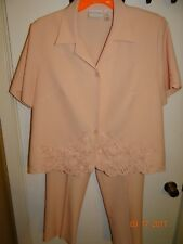 2 Piece Pant Suit Set ALFRED DUNNER Top: Size 16W, Pants: Size 12P FREE SHIPPING