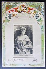 Postcard cartolina PRINZESS CHIMAY Clara Ward  VINTAGE 1902 cornice rilievo