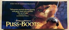 Puss In Boots For your Consideration Oscars Flip Book Dreamworks Shre2011