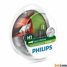 PHILIPS Long Life H1 EcoVision 12V Bombillas faro Twin 12258LLECOS2
