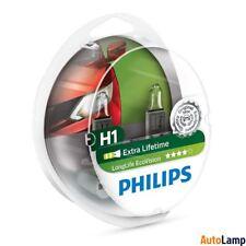 PHILIPS Long Life H1 EcoVision 12V Bombillas faro Twin 12258LLECOS2